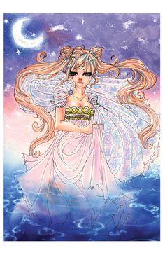 Sailor Moon/Princess Serenity Print by KikiJenkinsArt on Etsy, $4.00