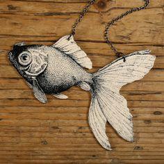 plastic fish necklace