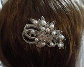Bijou de cheveux peigne vintage mariage mariée Ancien strass perles : Accessoires coiffure par tendancebijoux