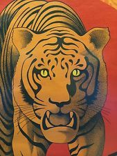 vintage 1974 tiger poster san francisco chinese new year 4672 festival - Chinese New Year 1974