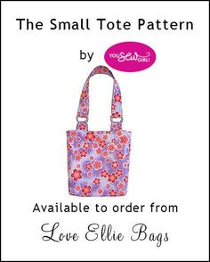 Small Tote & Satchel Pattern YOU SEW GIRL (sewing pattern only)