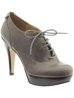 If these had a chunkier heel, I would think we were in the mid-90s.  I like them though.
