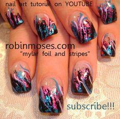 "nail polish designs | ... nail art design"" foiling nail art ""simple red glitter nail art design"