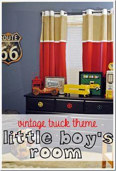 vintage truck boys room