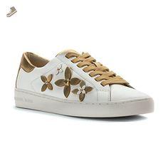 MICHAEL Michael Kors Women's Lola Sneakers, Optic White/Pale Gold, 6.5 B(M) US - Michael kors sneakers for women (*Amazon Partner-Link)