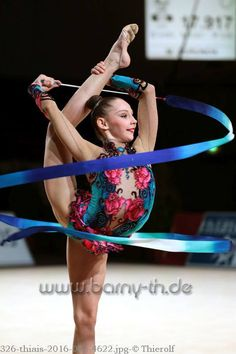 Anastasiya Serdyukova (Uzbekistan) got 16.908 points for ribbon at Qualifications, Olympic Games 2016