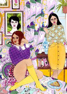 Ilustras caóticas e coloridas de Laura Callaghan • GarimpoGarimpo