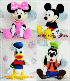 Mickey Mouse and the Gang - PDF amigurumi crochet pattern - LoveItSoMuch.com