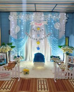 Pipe And Drape Backdrop, Diy Backdrop, Flower Backdrop, Backdrops, Simple Birthday Decorations, Indian Wedding Decorations, Baby Shower Decorations, Naming Ceremony Decoration, Ceremony Decorations