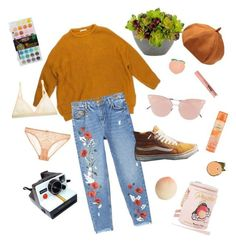 """Untitled #7"" by peach-lanterns on Polyvore featuring MANGO, Vans, So.Ya, Tony Moly, Polaroid, PINTRILL, STELLA McCARTNEY, Mimi Holliday by Damaris, Betsey Johnson and Zero Gravity"