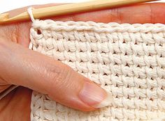Tunisian crochet - Finishing, step 4