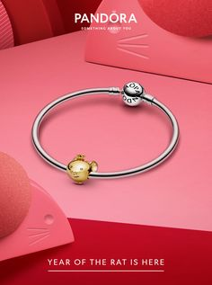 Pink Box Double Layer Inspirational Cable Bangle with Ball Tip Shine Bright Silver