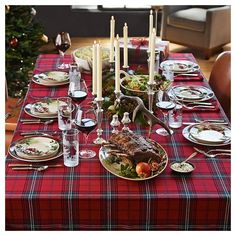 Classic Tartan Plaid Tablecloth (14180 RSD) ❤ Liked On Polyvore Featuring  Home, Kitchen