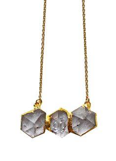 quartz TRIO necklace