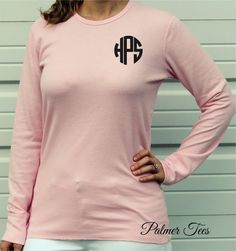 Monogrammed Thermal Long Sleeve Unisex T-Shirt by PalmerTees