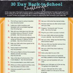 iMom 30 Day Back to School Challenge
