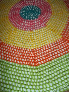 Inspired by   http://www.olinohobby.com/2013/02/crochet-rug-from-t-shirts-and-yarn.html
