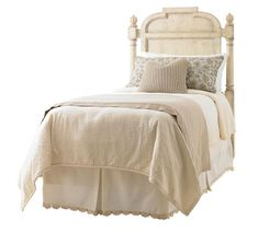 Hathaway Panel Bed, Price Upon Request The distressed-white finish and decorous, elegant lines of the headboard play off of each other. Put two in the guestroom to double its luxury. At Jordans Interiors, 604 733 1174, www.jordans.ca