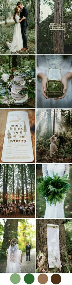 MY DREAM WEDDING!!!!!!! Set in the mountains of Grandpa Pierce's property, surrounded by ferns, black bears, and mossy stones ❤️❤️❤️❤️