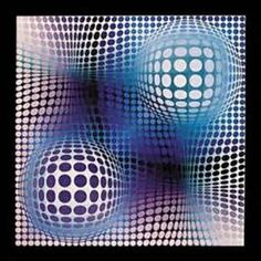 Op Art Victor Vasarely Famous Painting - Bing images