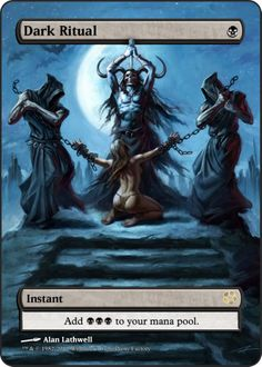 Magic The Gathering Dark Ritual Proxy