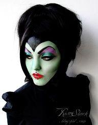 AMAZING Maleficent makeup #Artsandcrafts