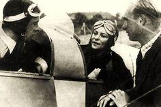 Bernd Rosemeyer,Elly Beinhorn and Werner Ahlfeld 1937