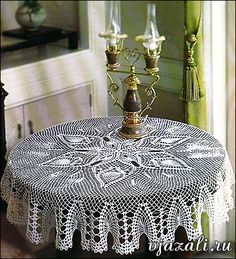For free graph..select 1,2 & 3 for this lovely crochet Table Topper..