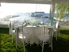 wedding on the waterfront - designed by Grand Event Rentals http://www.grandeventrentalswa.com/