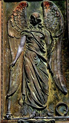 ☫ Angelic ☫  winged cemetery angels and zen statuary - Piedmont Cemetary