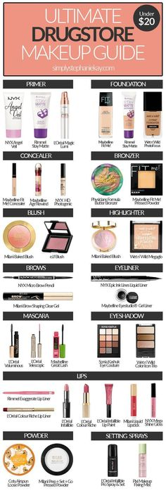 Ultimate-Drugstore-Makeup-Guide-under-20 Tap the link now to find the hottest products for Better Beauty!