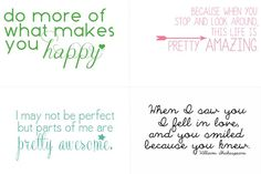 Project Life Freebies - Inspired Quotes from www.sweetrosestudio.com ! Love these for easy #scrapbooking and #journaling