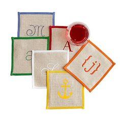 Typographer's Linen Coasters