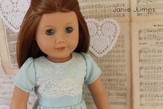 """American Girl Doll Dress - For 18"""" Doll. $21.00, via Etsy."""
