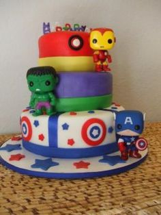 """Bobble Head Avengers""my ""29"" year old daughter Christina's birthday cake???!!!!"