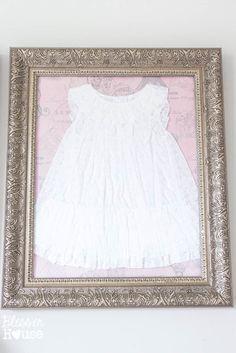 Framed Children's Clothes + Little Girl Bedroom Wall Decor on a Budget | Bless'er House