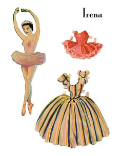 The Vintage Moth..: Vintage Paper Dolls- Ballet Dancers