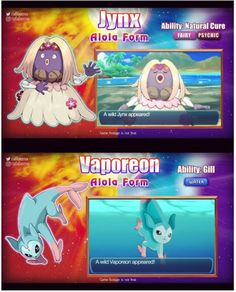 Fan Made Alola Forms. (I wish these were real!)