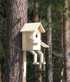 Bird House Kits Make Great Bird Houses Cool Bird Houses, Wooden Bird Houses, Bird House Feeder, Diy Bird Feeder, Bird Feeder Plans, Bird House Plans, Bird House Kits, Ideas Para Decorar Jardines, Birdhouse Designs