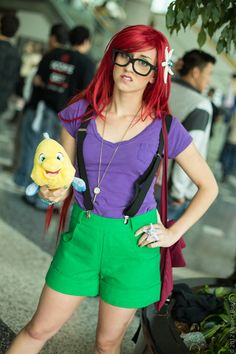 hipster ariel costume idea to think about for college lol - Hipster Halloween Ideas