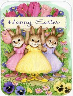 Easter Garden, Easter Art, Easter Decor, Easter Ideas, Easter Eggs, Easter Bunny Pictures, Easter Paintings, Bunny Art, Easter Holidays