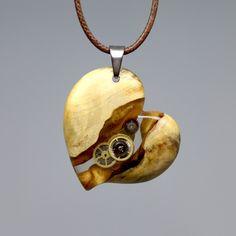 특수목과 레진을 사용해 만드는 악세사리 wood resin jewelry, design, necklace, wooden pendant