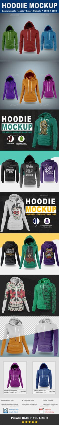 Hoodie #Mock-Up Vol.1 - #T-shirts #Apparel Download here: https://graphicriver.net/item/hoodie-mockup-vol1/20182097?ref=alena994