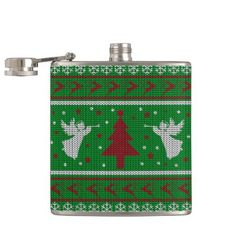 Ugly Christmas Sweater Hip Flask - winter gifts style special unique gift ideas