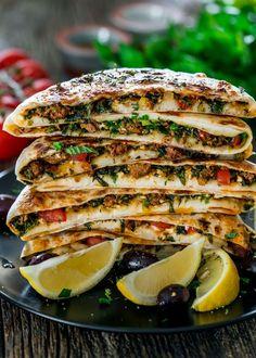 Turkish Gozleme with Lamb …