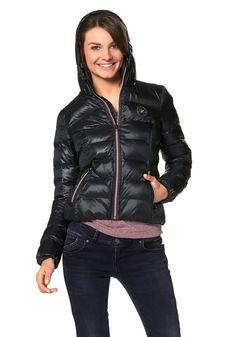 Converse POLY PUFFER Steppjacke Converse, Mantel, Winter Jackets, Leather Jacket, Shopping, Fashion, Padded Jacket, Back Stitch, Sporty