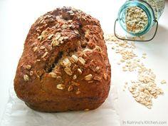 Nutella Oatmeal Bread with Brown Sugar Honey Glaze