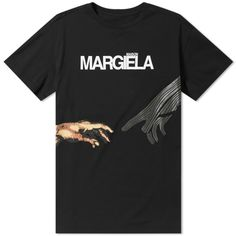 26e0bfcbc7df £265 Maison Margiela 10 Logo Print Tee Black 1 10 Logo