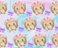 gambar monkey, wallpaper, and emoji Emoji Wallpaper, Kawaii Wallpaper, Tumblr Wallpaper, Cool Wallpaper, Monkey Wallpaper, Heart Wallpaper, Backgrounds Wallpapers, Cute Backgrounds, Cute Wallpapers