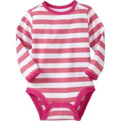 d78656638a Old Navy Long Sleeved Bodysuits For Baby - Pink stripe (310 RUB) ❤ liked